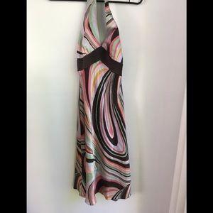 Silk halter dress size 4